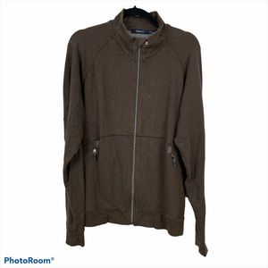 Zegna Sport Brown Full Zip Jacket Size XXL